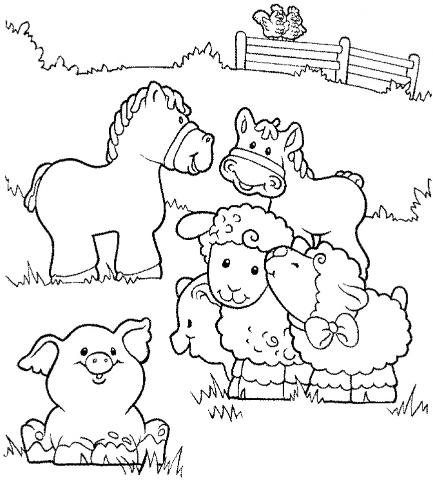 Get this printable farm animal coloring pages for kids 5prtr for Farm animal coloring pages