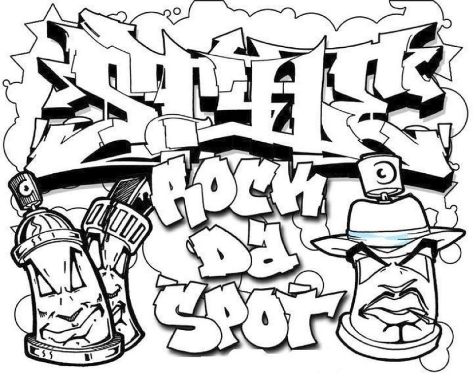Get This Printable Graffiti Coloring Pages Online 21065 !