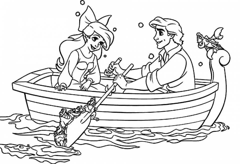 printable image of ariel coloring pages t2o1m - Ariel Coloring Pages