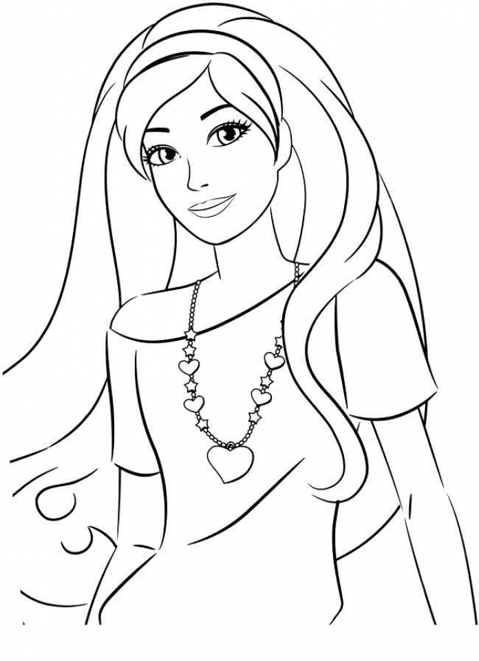 Get This Printable Image Of Barbie Coloring Pages T2o1m