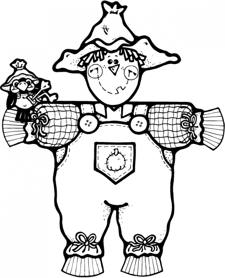 Get This Printable Image of Scarecrow Coloring Pages UpIuI