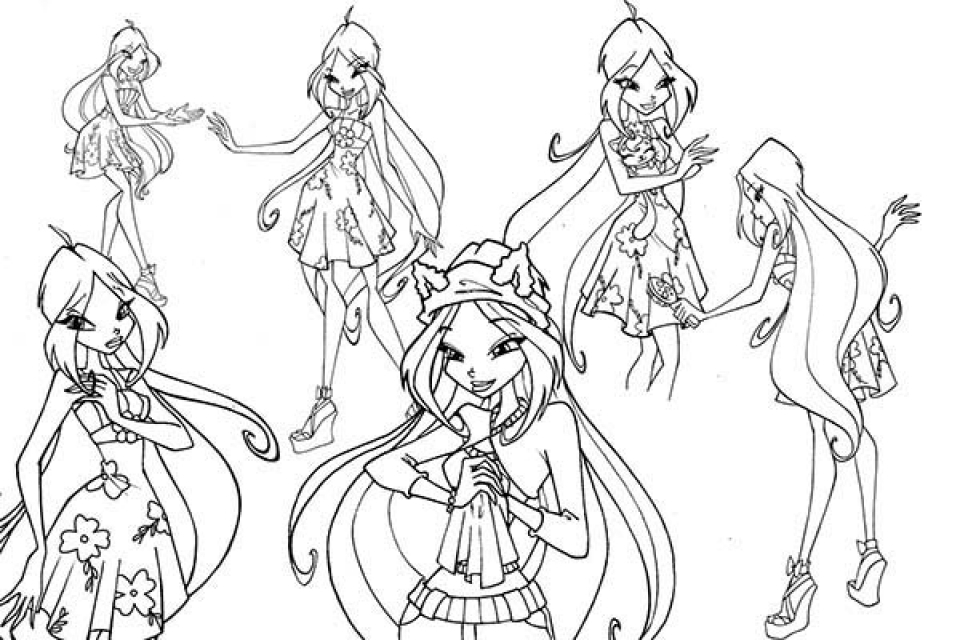 Get This Printable Image of Winx Club Coloring Pages t2o1m