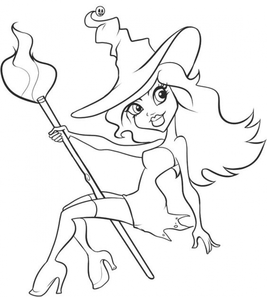 Get this printable image of witch coloring pages upiui for Coloring pages of witches