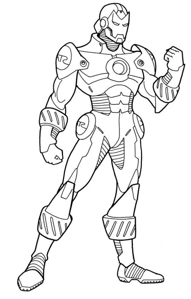 Iron man printable coloring sheets coloring pages for Disegni da colorare iron man