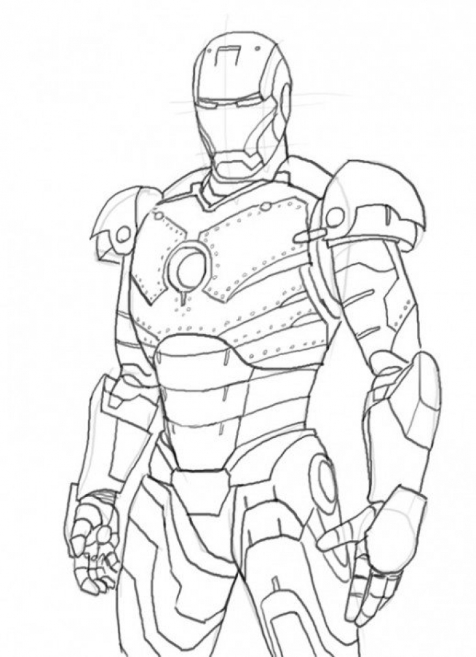 Get This Printable Ironman Coloring Pages Line