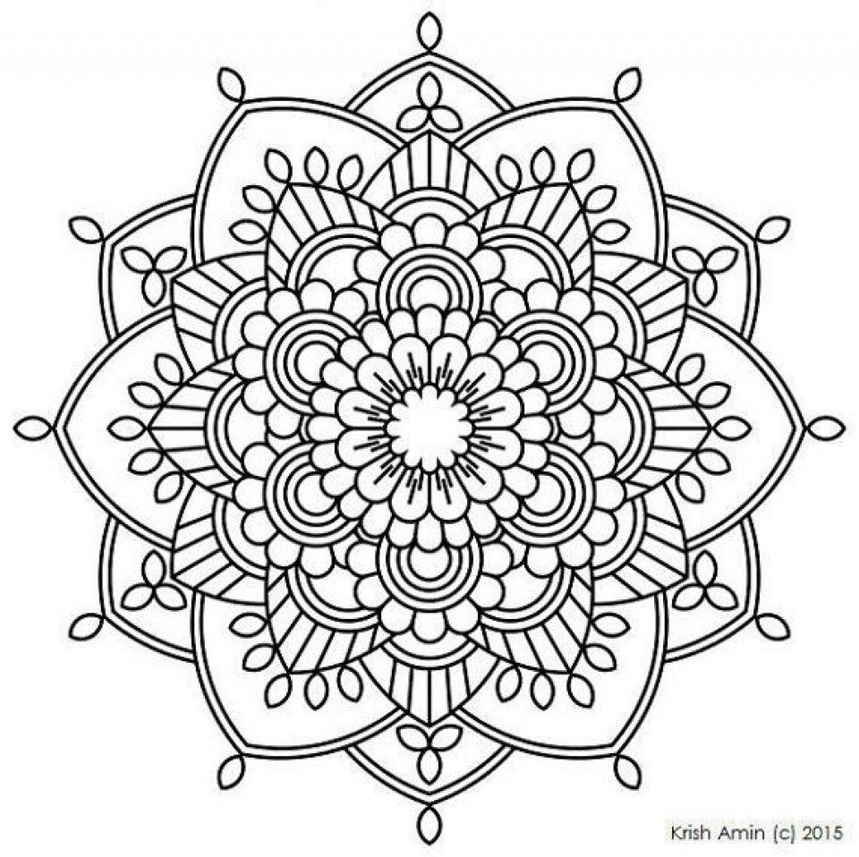 Get this printable mandala coloring pages for adults for Mandala coloring pages printable free