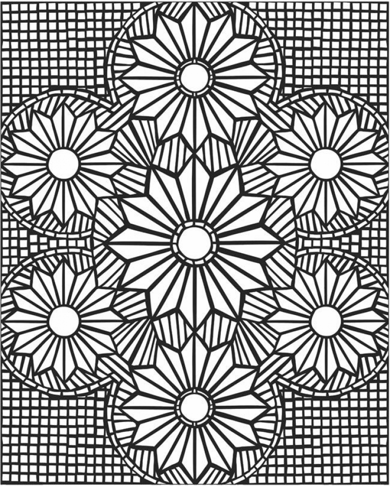 printable mosaic coloring pages online