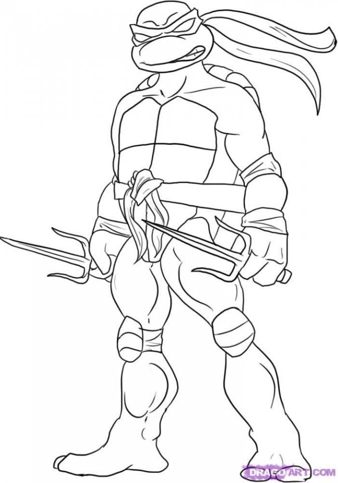 Printable Ninja Turtle Coloring Page Online   05278