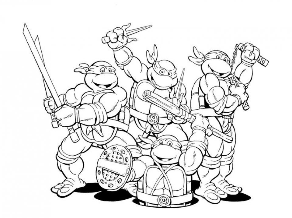 Get This Printable Ninja Turtle Coloring Page Online 32651 !