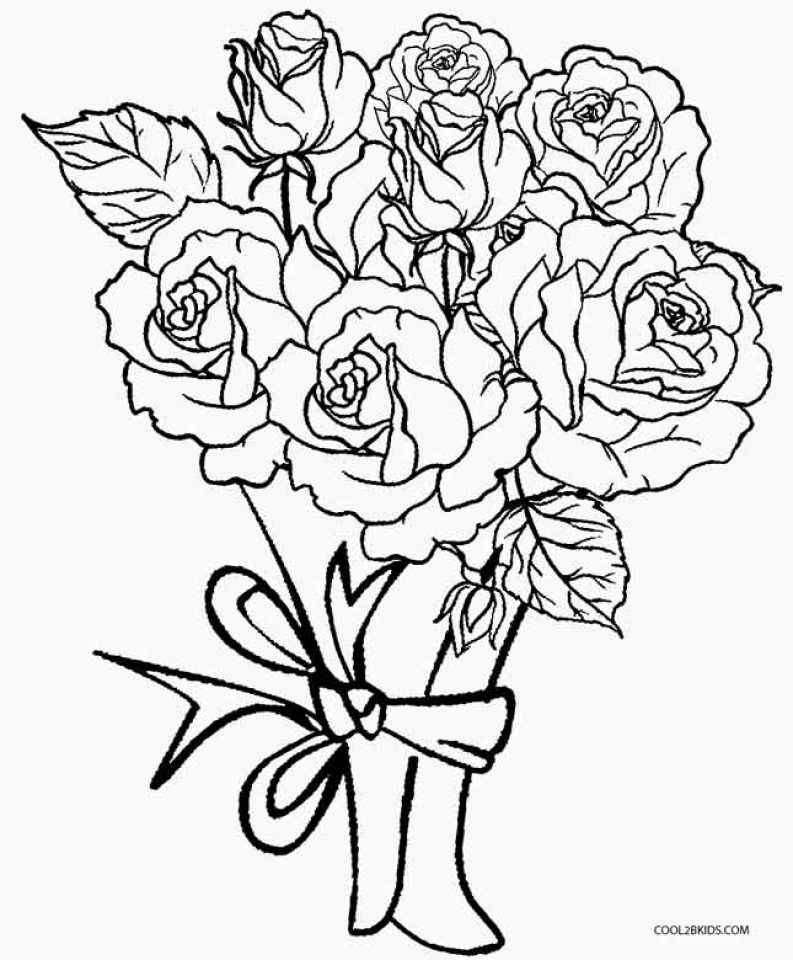 Get This Printable Roses Coloring