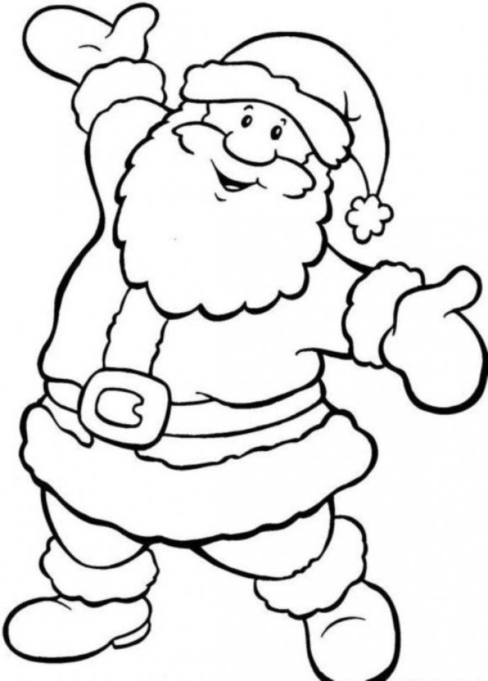 Printable Santa Coloring Page   87126