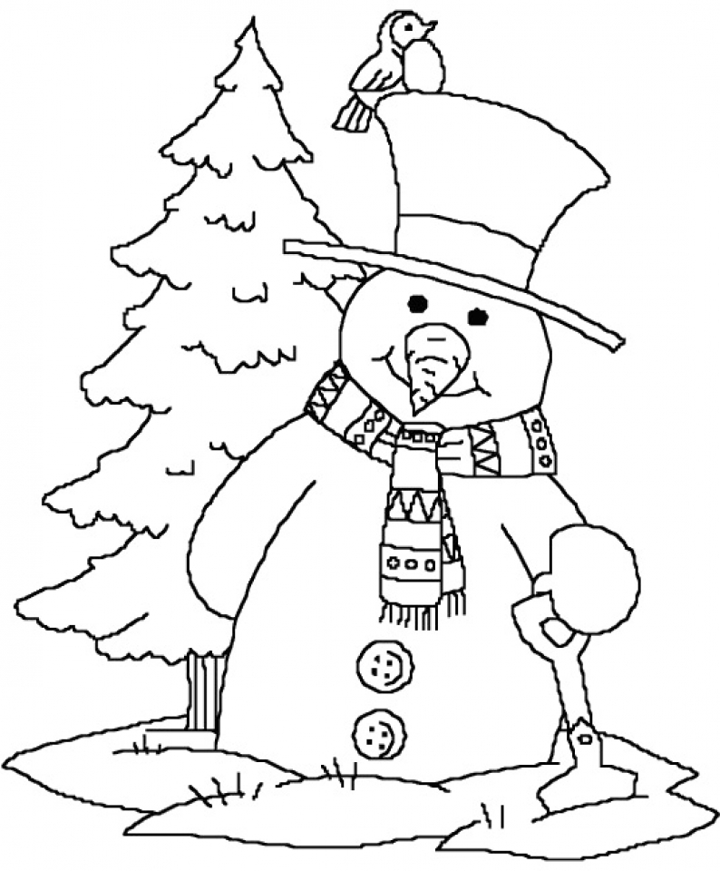 Get This Printable Snowman Coloring Pages 73400 !