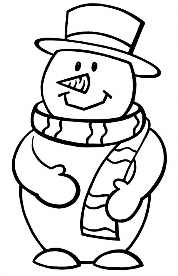 Get this printable snowman coloring pages 87141 for Free coloring pages snowman
