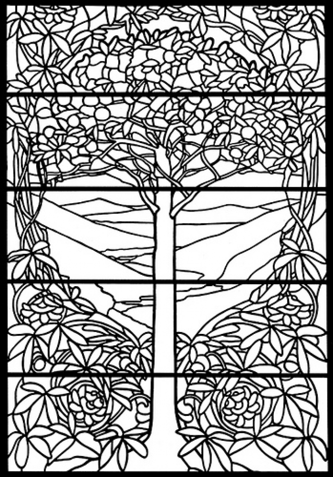 Get This Printable Stained Glass Coloring Pages Online 34394 !
