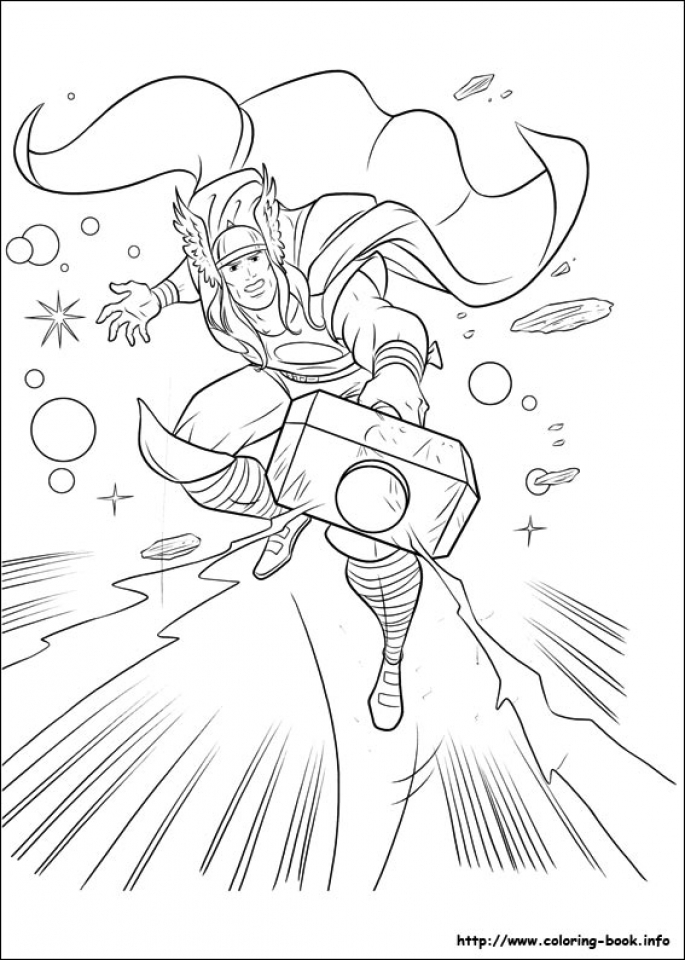Get This Printable Thor Coloring Pages 73400