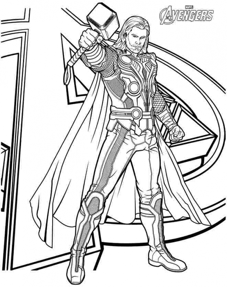 Get This Printable Thor Coloring Pages 87141