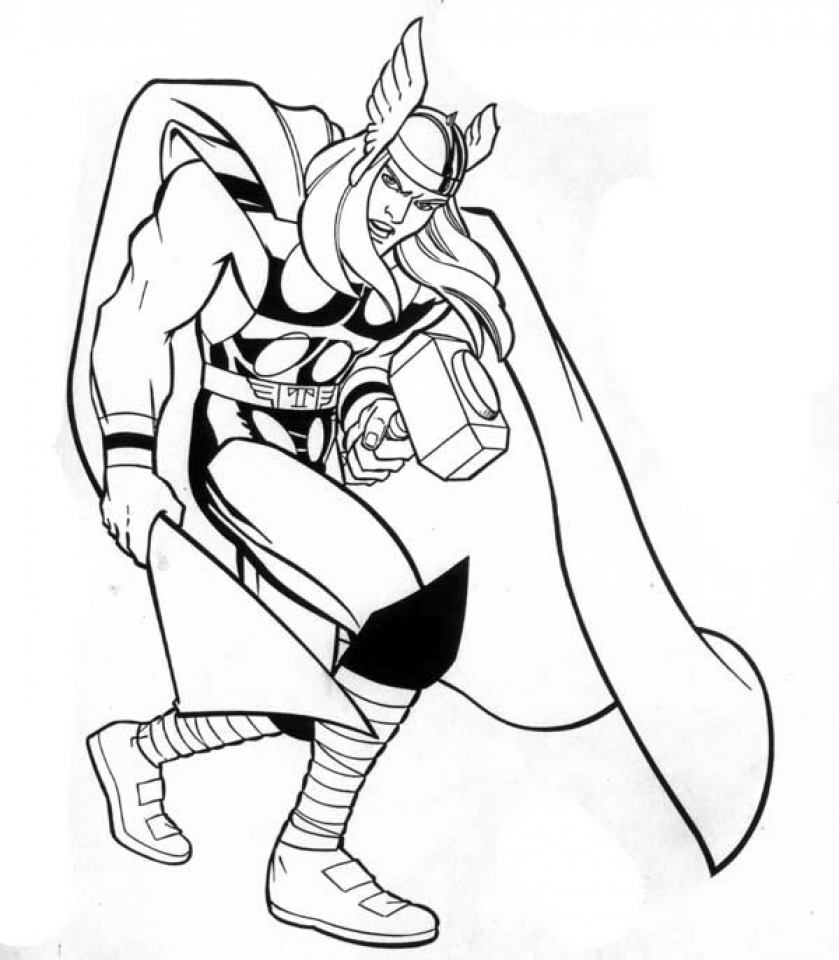 Coloring pages power rangers printable - Printable Thor Coloring Pages Online 51321