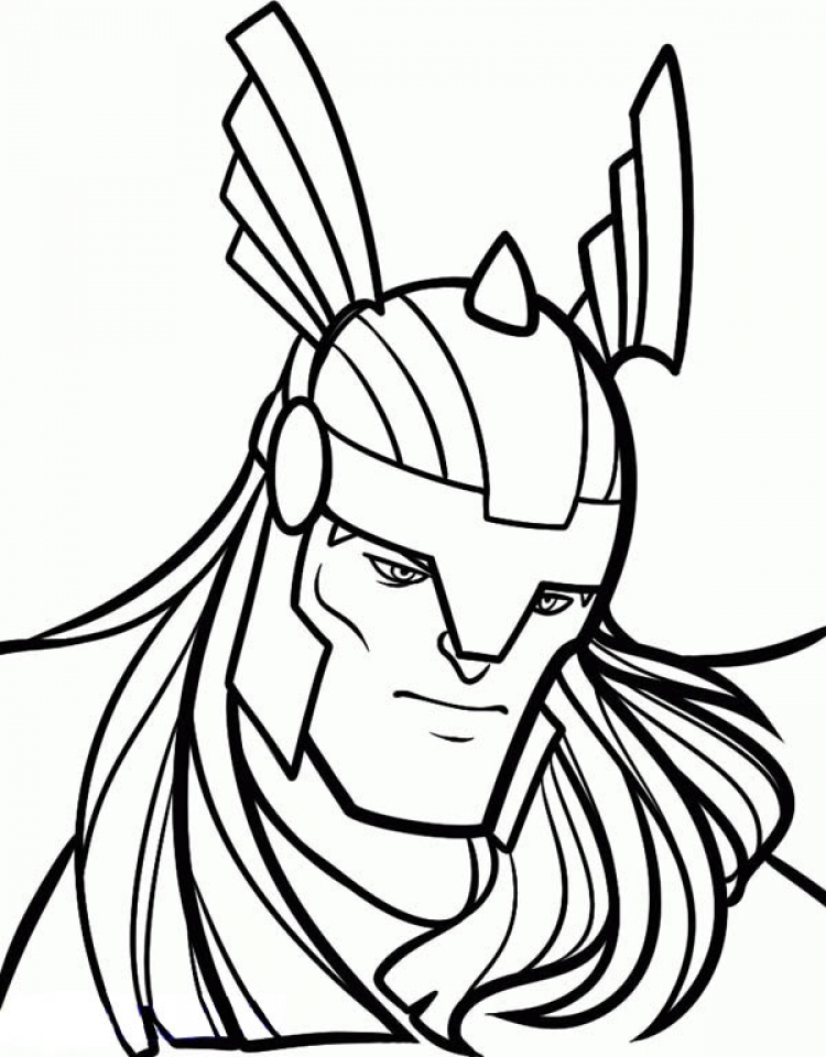 Get This Printable Thor Coloring Pages Online 85256