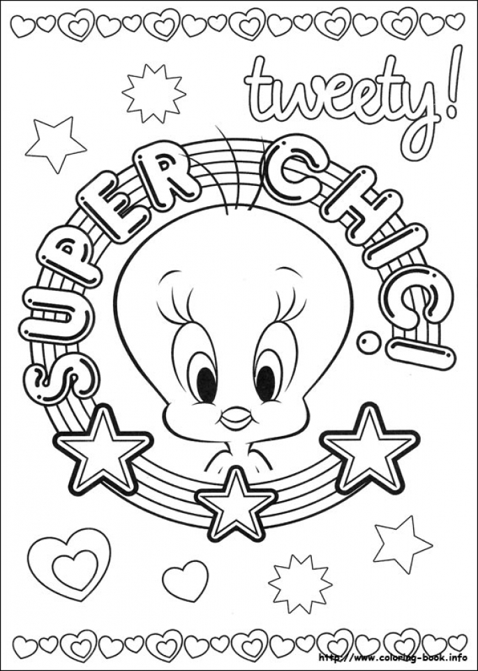 Get This Printable Tweety Bird Coloring Pages 87141