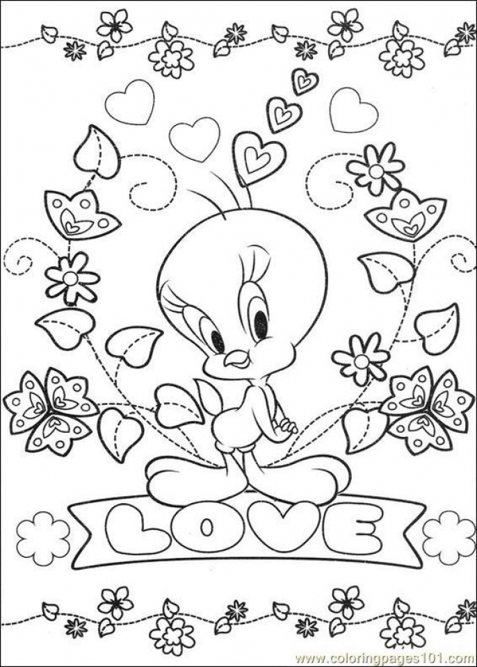 - Get This Printable Tweety Bird Coloring Pages Online 91060 !