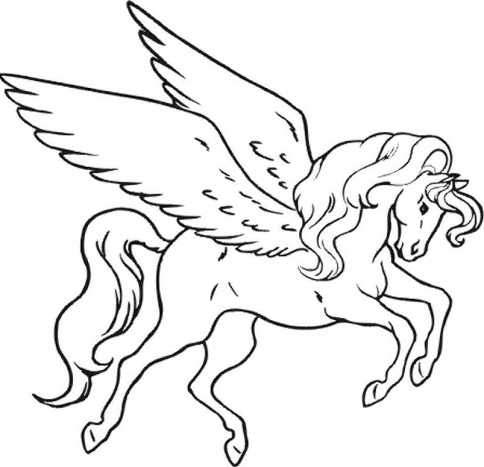 Unicorn coloring pages to print - Printable Unicorn Coloring Pages Online 64038
