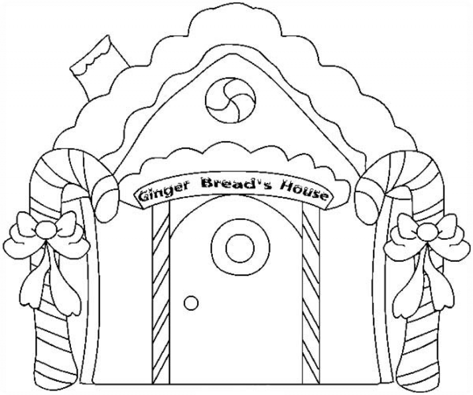 printables for toddlers gingerbread house coloring pages online free qkf3g - House Coloring Pages Toddlers