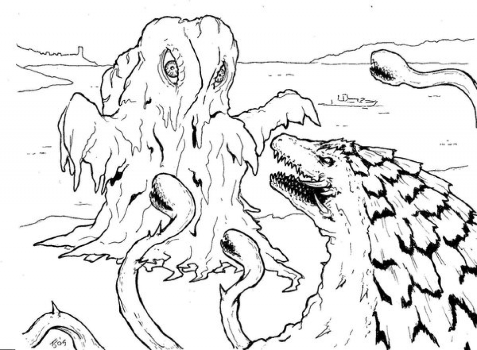 Get This Printables For Toddlers Godzilla Coloring Pages