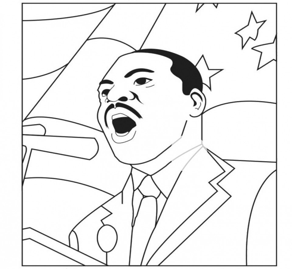 88 Martin Luther King Coloring Pages For Kindergarten