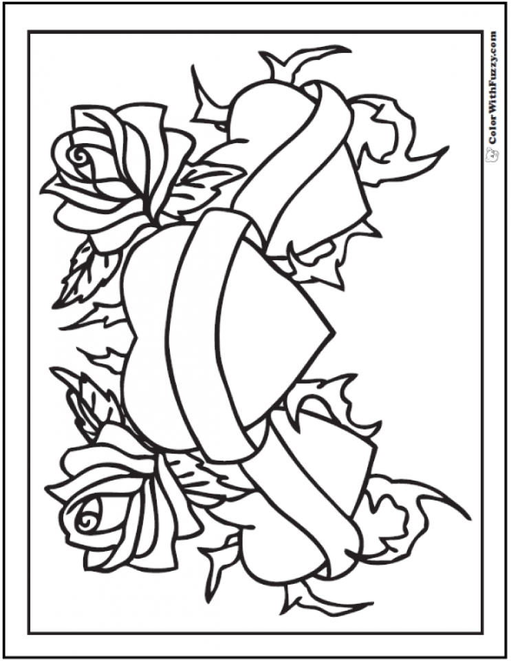 Get this roses coloring pages for adults free printable for Coloring pages roses