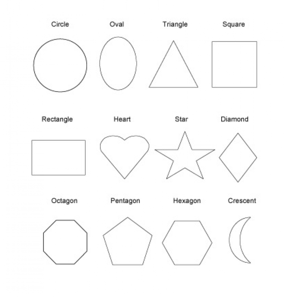 Coloring pages shapes