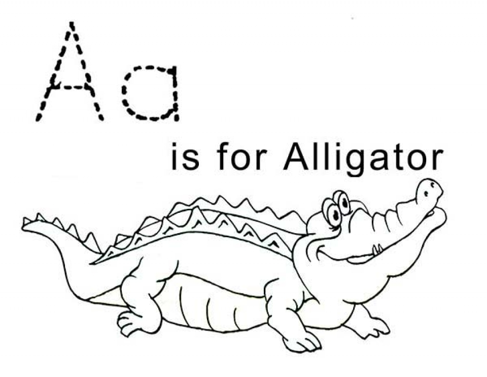 Get This Simple Alligator Coloring Pages to Print for