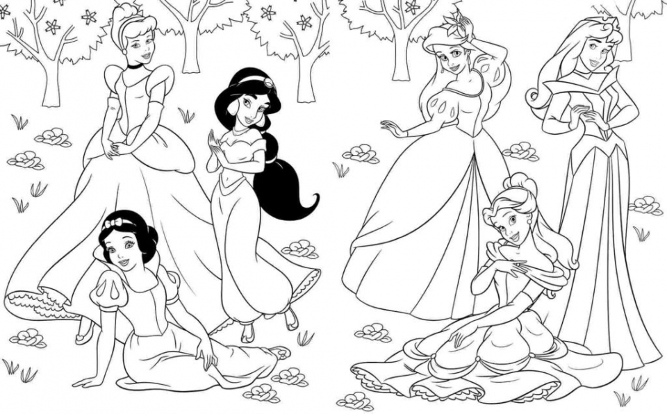 Simple Ariel Coloring Pages to Print for Preschoolers   cdsxi