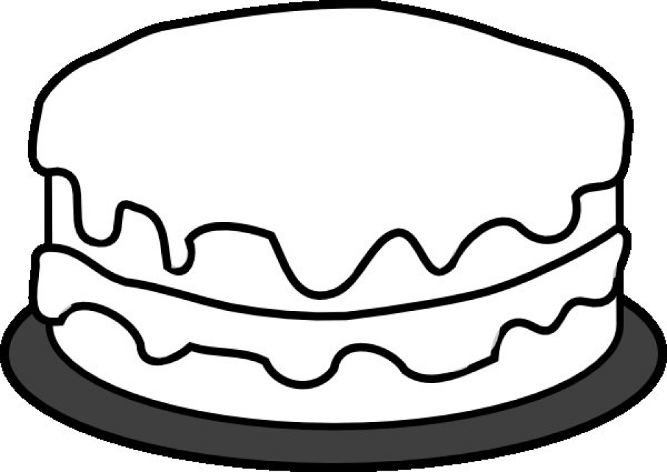 simple cake coloring pages to print for preschoolers cdsxi - Simple Coloring Pages For Preschoolers