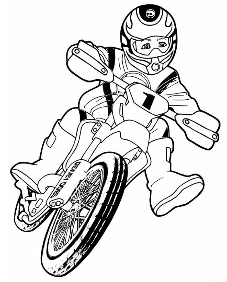 20 Free Printable Dirt Bike Coloring