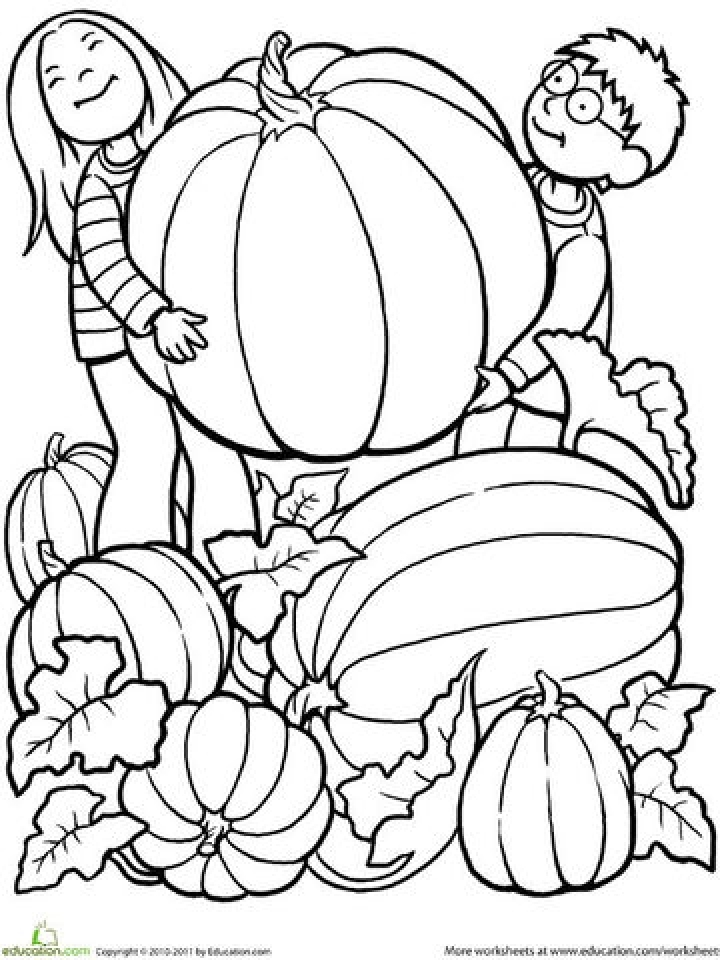 Simple Fall Coloring Pages to Print for Preschoolers   cdsxi