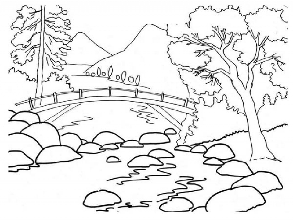 Get This Simple Nature Coloring Pages to Print for