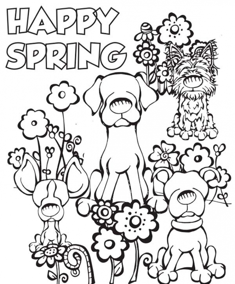Get This Simple Spring Coloring Pages to Print for Preschoolers cdsxi !