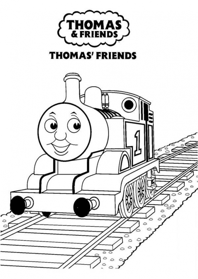 Get This Simple Thomas And Friends Coloring Pages to Print for