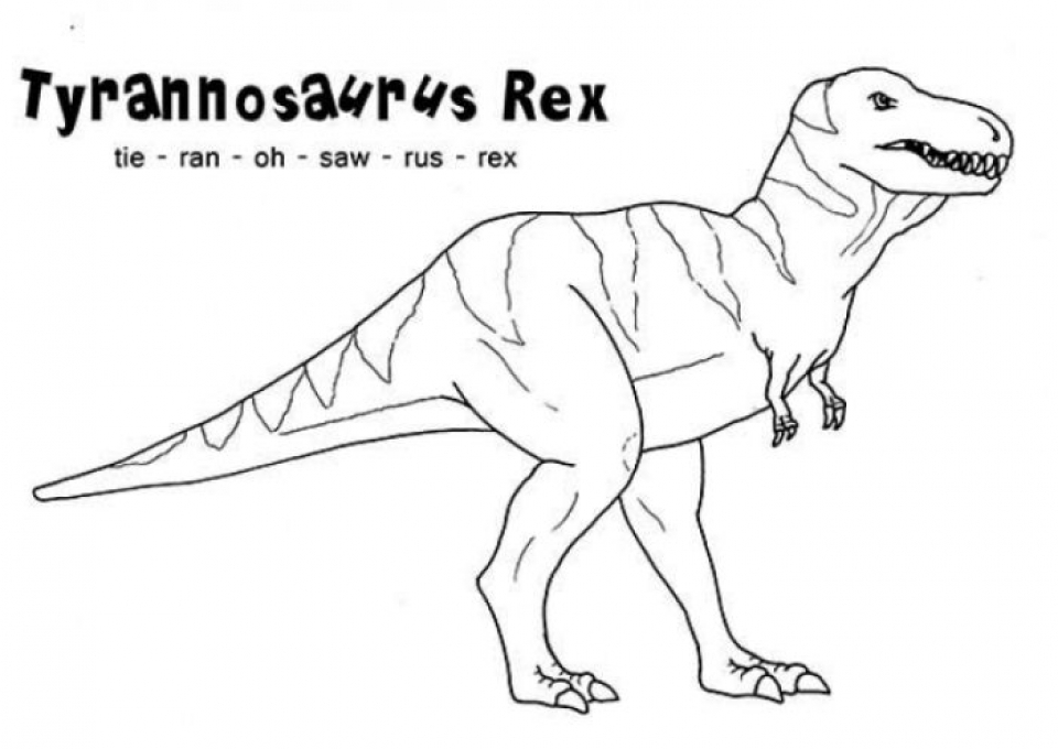 Get this t rex coloring pages free printable 9548 for Free t rex dinosaur coloring pages