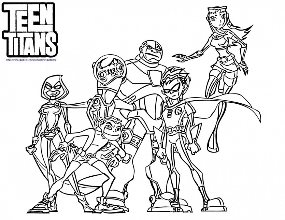 Get This Teen Titans Coloring Pages Printable for Kids xi226