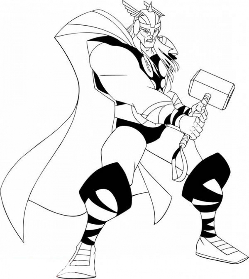 Free coloring pages wonder woman - Thor Coloring Pages Free Printable 9548