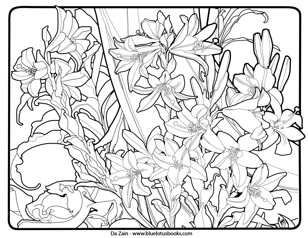 Art Deco Patterns Coloring Pages Free Printable for Adults – 775d
