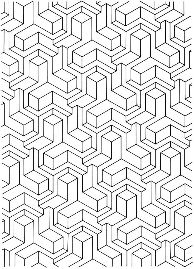 Get This Free Tessellation Coloring Pages Adult Printable 82648 Coloring Pages 3d Designs