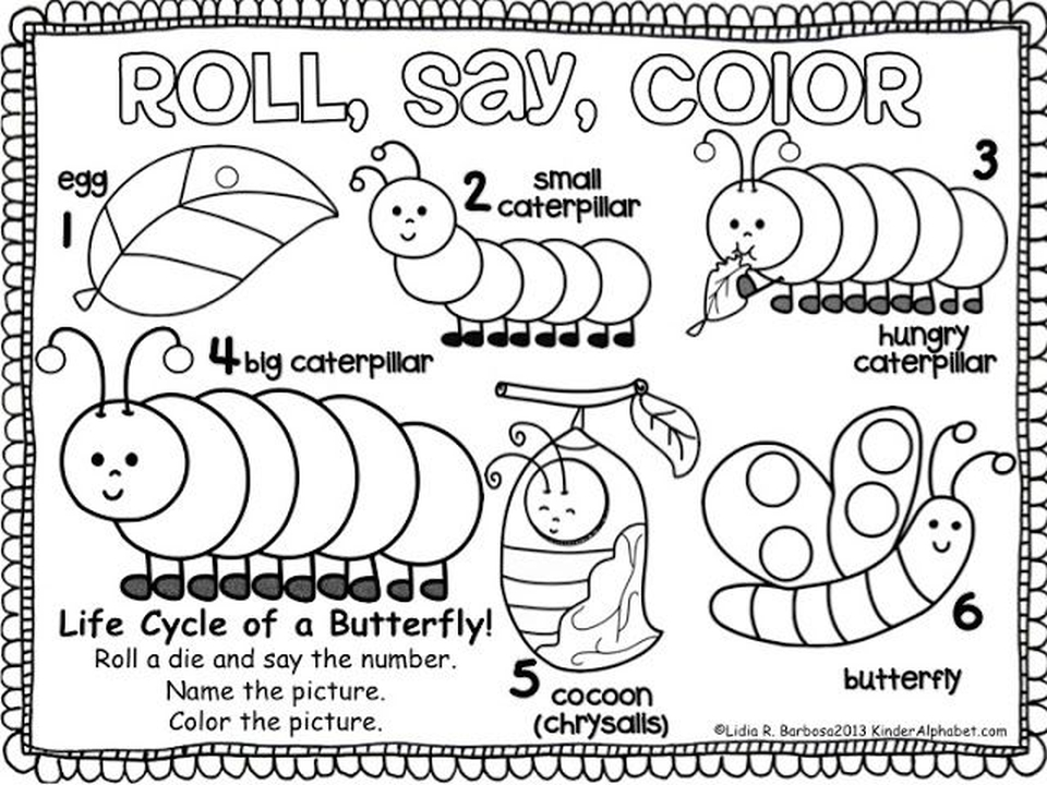 The Very Hungry Caterpillar Coloring Pages Free For Kids 67482