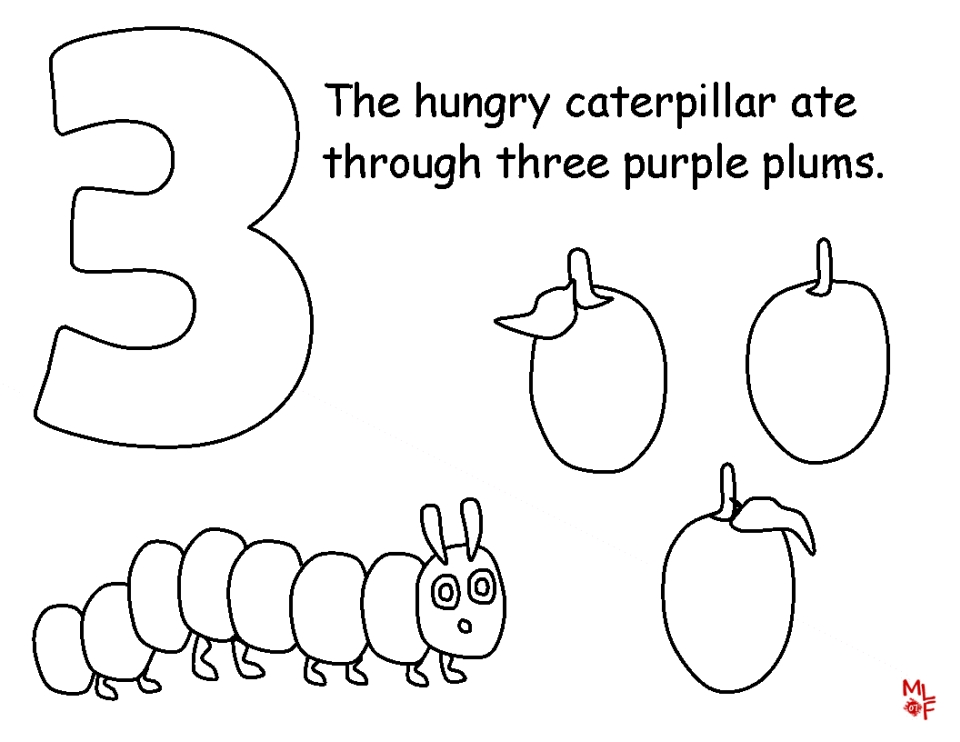 Get This The Very Hungry Caterpillar Coloring Pages Free For