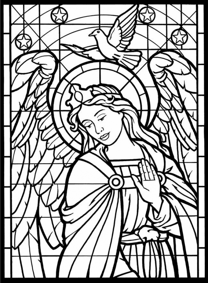 Get This Angel Coloring Pages for Adults 8C345G