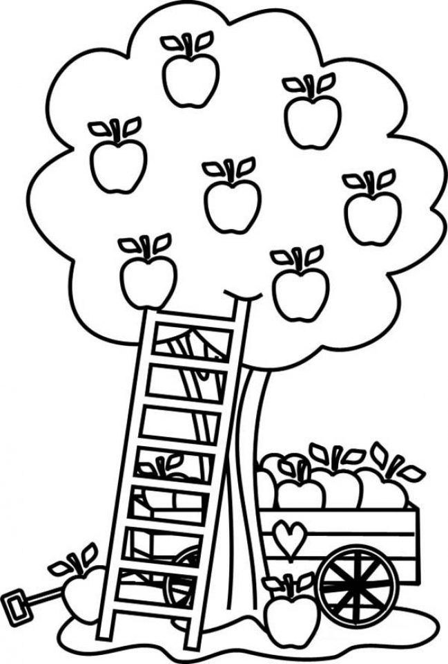 Get This Apple Coloring Pages Free Printable Fyo108