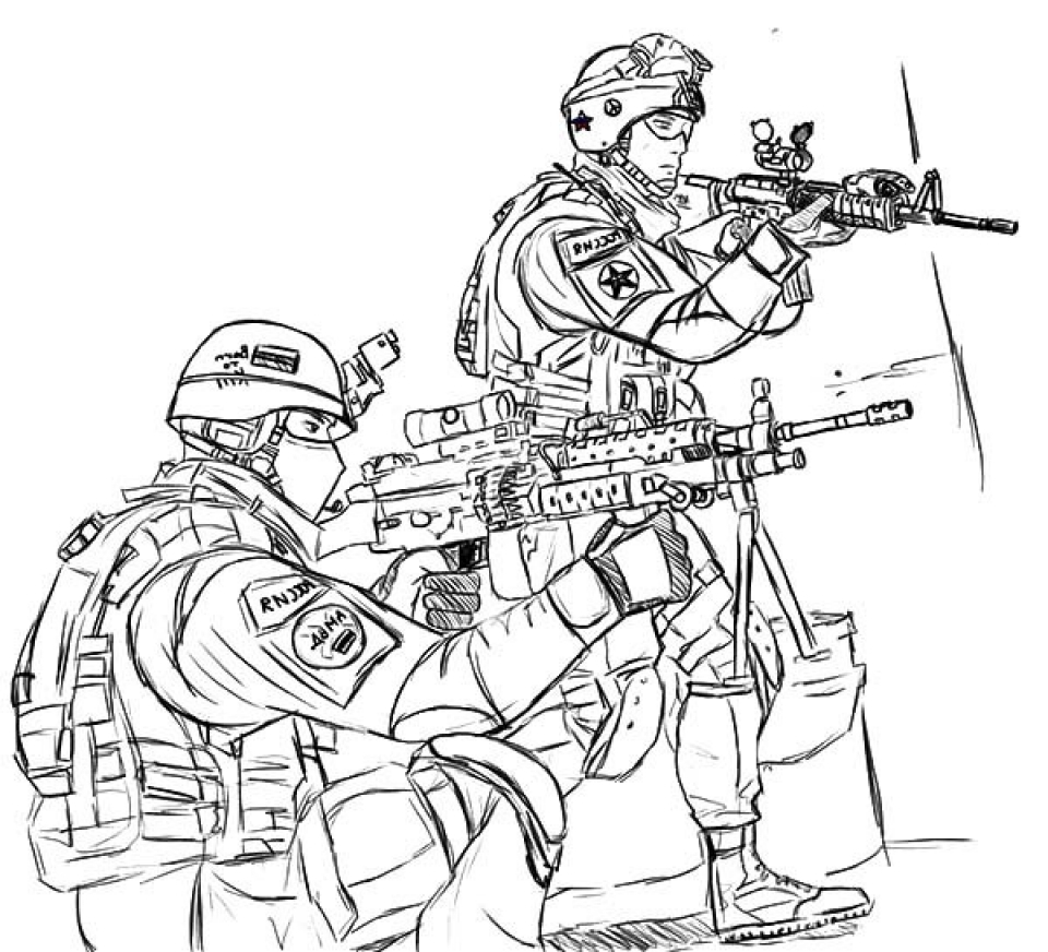 Get This Army Coloring Pages Free