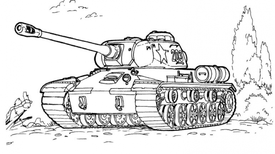 Army Tank Coloring Pages Free Printable 24458bn