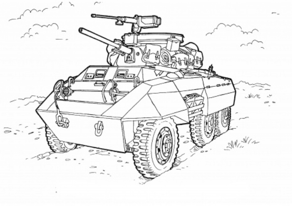 Get This Army Tank Coloring Pages